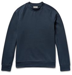 MR PORTER X COS' storm-blue sweatshirt will slot straight into your off-duty roster. Cut from stretch cotton-blend jersey in a regular silhouette, it's designed with raglan sleeves that give it a cool, sporty look and make movement easy. Wear yours with jeans or tapered sweats at the weekend.