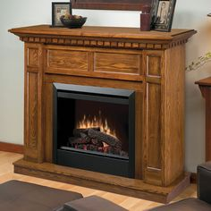 Dimplex Caprice Oak Electric Fireplace Mantel Package - DFP4743O