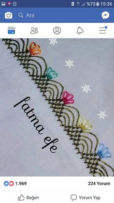 İgne oyası Crochet Stitches Patterns, Baby Knitting Patterns, Stitch Patterns, Cross Stitch Embroidery, Hand Embroidery, Helly Hansen, Embroidery Jewelry, Bargello, Knitted Shawls