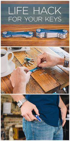 Here's an easy way to life hack your bulky key chain into a stylish and compact device! Instead of loosely fitting your keys on a bunch of jingling key rings, this handy utility keeps them flush and organized. It has multiple attachments such as USB, bottle openers, mini rulers, etc. turning your key chain into a perfect multi-tool. Use code ORGANIZE15 this month for 15% off!