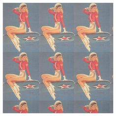 Americana Pin Up Patriotic Fabric Customisable