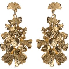 Aurelie Bidermann Ginkgo Feathers Articulated Earrings (1.460 VEF) ❤ liked on Polyvore featuring jewelry, earrings, accessories, brincos, gold, 18 karat gold jewelry, feather jewelry, earrings jewelry, 18 karat gold earrings and 18k jewelry