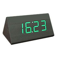 Wooden led digital clock with alarm date temperature