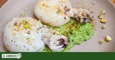 Italianos no miréis, porque el pesto de esta receta no es muy canónico. Pero su sabor es tan veraniego como un buen trozo de sepia a la plancha, así que imaginaos la combinación. Pesto, Fish And Seafood, Recipe Box, Hummus, Eggs, Cooking, Breakfast, Recipes, Salsa Verde