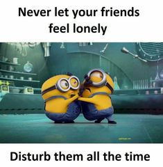 Well, it's always great that we collect funny things. As well as today we collect some Minions Memes friendship that are so gorgeous.Read This 24 Minions Memes Friendship 24 Minions Memes Fri… Minion Humor, Funny Minion Memes, Funny School Jokes, Crazy Funny Memes, Funny Jokes, Hilarious, Memes Humor, Funny Shit, Funny Stuff