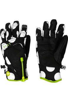 House of Holland + Roxy polka dot-print shell gloves | NET-A-PORTER