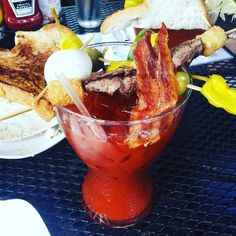 The Bloody Best... Now that's a bloody Mary!! #bloodymary #daydrinking