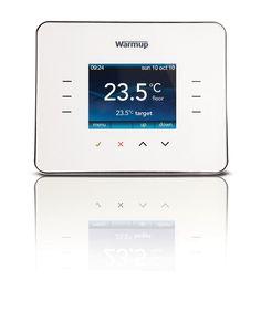 Warm Up 3iE Thermostat: Cloud White - Topps Tiles Pas de place de perdu à cause des radiateurs