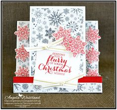 Ange's Treasures: Centre Step Card - Flurry of Wishes