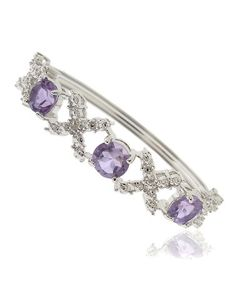 Look what I found on #zulily! Amethyst & Diamond 'X' Bangle by Endearing #zulilyfinds