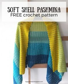 Free crochet pattern: Soft Shell Pashmina