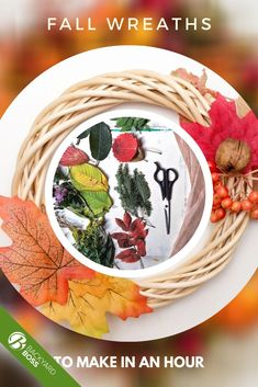 It's decorative gourd season, and that means it's time to break out all the orange, gold, bronze and red, light an apple cider-scented candle, and sip chai and pumpkin spice lattes for 3 months straight. Get your house ready for the autumnal 'gram with this quick fall wreath tutorial. It's inexpensive, simple enough to put together in just a few minutes, and completely customizable.