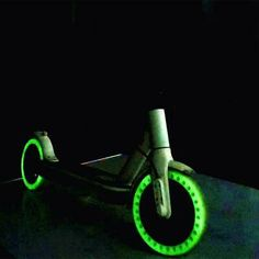 New Fluorescent Tire Solid Wheels For Electric Scooter Solid Tire Anti Shock Absorption Scooter Accessories For Xiaomi Scooter Storage, Luminous Colours, Electric Scooter, Cycling, Wheels, Ebay, Accessories, Green, Biking