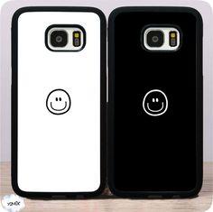 Bigbang最新ギャラクシーS6edge+シリコン製s7エッジケースG9350ソフトgalaxyシンプル笑顔スマイル柄男女カップルペアケース携帯カバー
