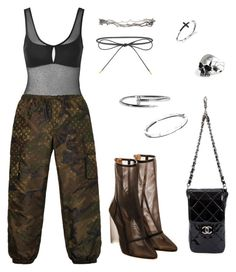 """""""Untitled #199"""" by cryamilet19 ❤ liked on Polyvore featuring Topshop, Louis Vuitton, Chanel, Elizabeth and James, Pearls Before Swine and Bulgari"""