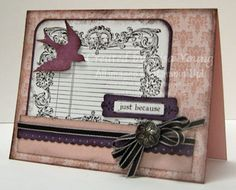 Notably Ornate Blushing by genesis - Cards and Paper Crafts at Splitcoaststampers