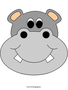 Safari Theme, Jungle Theme, Animal Heads, Animal Faces, Hippo Crafts, Safari Party Decorations, Cartoon Hippo, Baby Bumper, Cute Hippo