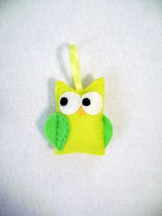 green and yellow owl