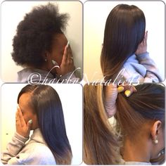 Versatile Sew-In Hair Weaves...on my client's 100% natural hair!!!FLAWLESS, NATURAL-LOOKING RESULTS! Please call or text me at 708-675-9351 to schedule your appointment! Order your hair online at www.naturalgirlhair.com.