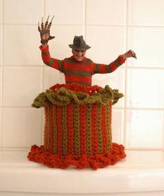 Freddy Krueger toilet paper cozy. Haha...ace!!!