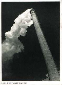 Alte Postkarte: Der Schlot muss rauchen. Damals war man noch stolz auf qualmende Fabriken.