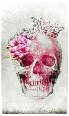 "Saatchi Art Artist Xrista Stavrou; New Media, ""Skull Art Queen"" #art"
