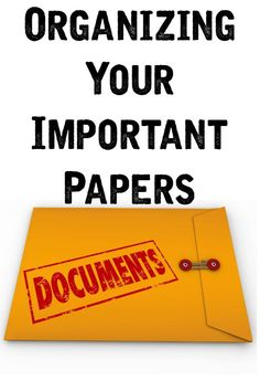Organizing Your Important Documents