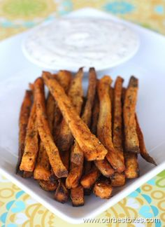 Baked Sweet Potato Fries with Honey-Lime Dip - Our Best Bites