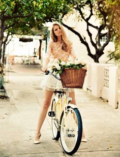 stay stylish and boho chic when taking a bike ride
