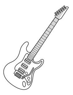 eletric guitar coloring pages - photo#23
