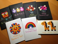 Hama Beads Teachers' Day Cards. :)