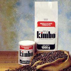 Anni 70. I primi prodotti Caffè Kimbo: Italian Espresso Coffee e Miscela di Caffè Torrefatto.     L'idea iniziale è vincente: un prodotto che conservi il gusto napoletano del caffè, dall'aroma inconfondibile, nel rispetto della tradizione.  #coffee #vintage #adv