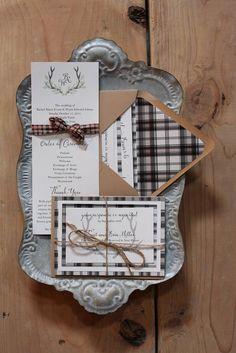 Rustic Cabin Wedding Inspiration Chic Wedding, Snow Wedding, Dream Wedding, Wedding Tips, Wedding Details, Winter Wedding Invitations, Rustic Invitations, Wedding Stationery, Flannel Wedding