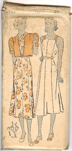 """30's Chatelaine Sewing Pattern - Juniors, Misses and Ladies Princess Dress and Jacket 783 Medium sizes Bust 30"""" - 42"""" Hip 33"""" - 45"""". $35.00, via Etsy."""