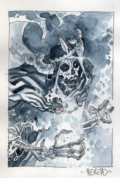 Adventure Time's Lich King by Duncan Fegredo from the collection of Zack Smith Comic Books Art, Comic Art, Dark Fantasy, Fantasy Art, Lich King, Scary Art, Halloween 2014, Adventure Time Art, Art Reference