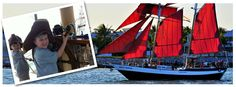 A Key West sailing adventure aboard the Schooner Jolly Rover takes you back in time on a classic 80' Caribbean coastal sailing tall ship. Providing Key West sunset sails, Key West day sails and Key West private charters.