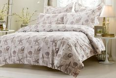6pc+Seashell+Beige+Bedding+Set-Includes+Comforter+and+Duvet+Cover+Set+King/Cal+King