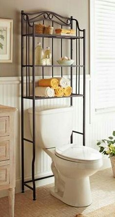 Perfect Over The Toilet Storage (in Dark Brown Melamine Or Dark Coloured Metal).