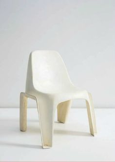 Klaus Vogt; Plastic Stacking Chair, 1971.