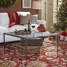 Harlan Glass Coffee Table, Square