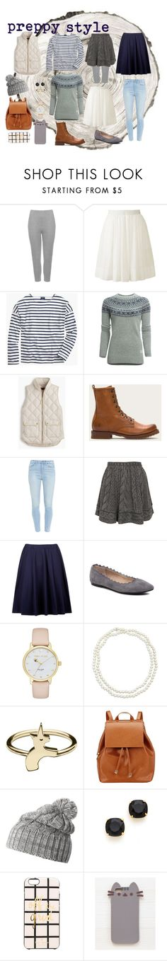 """winter capsule style: preppy"" by hipfam01 ❤ liked on Polyvore featuring WearAll, Uniqlo, Saint James, Penfield, J.Crew, Paige Denim, Opening Ceremony, Audrey Brooke, Kate Spade and Chico's"