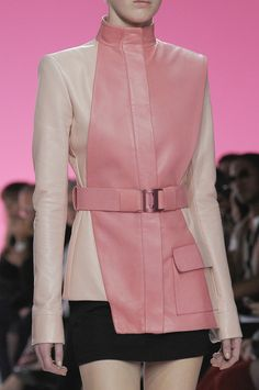 Pedro Lourenço Spring 2013..can do without the pink, but the cut and details are a world of yes!