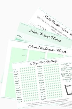 Kostenloser Fitness Planer - Printable Squats, Greens & Proteins