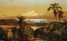 Cayambe, huile sur toile de Frederic Edwin Church (1826-1900, United States)