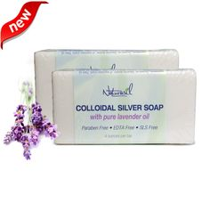 Naturasil Colloidal Silver Soap with Pure Lavender is a natural plant and colloidal silver forumula designed to cleanse, moisturize, soothe and heal.* Each bar is hand made with quality ingredients including pure lavender from Belguim....