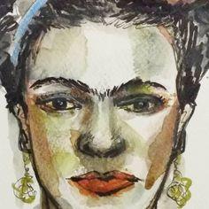 """31 Me gusta, 0 comentarios - Castrolara. Nieves (@ncastrolara) en Instagram: """"Enamórate  de ti, de la vida. Y luego. ..de quien  tú quieras."""""""" Cuestión  de prioridad 😉 Grande…"""" Grande, Watercolor, Portrait, Tattoos, Painting, Instagram, Art, Frida Kahlo, Life"""