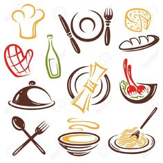Cooking Vector Images (over Cooking Jam, Cooking Icon, Restaurant Concept, Logo Restaurant, Halloween Borders, Cooking Equipment, Stock Image, Diy On A Budget, Vector Design