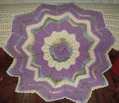 Crocheting: Ripple Star Baby Afghan