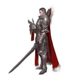 Human Male Fighter Warrior in Plate - Pathfinder PFRPG DND D&D d20 fantasy