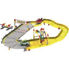 K'nex mariokart Mario and Yoshi Finish Line Building Set, at Toys R Us.